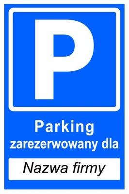 Doska Parkovacie Miesto vyhradené pre Spoločnosť