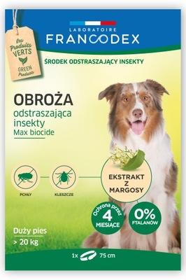 Francodex воротник блох, клещей, собак выше 20кг,75 см
