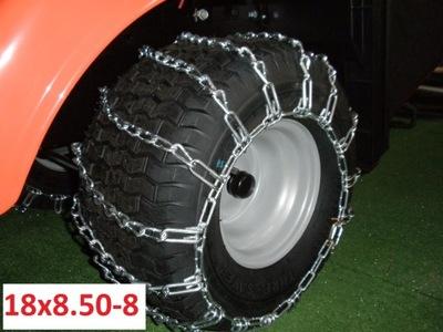 Łańcuchy 4mm śniegowe 18x8.50-8 + NACIĄGI
