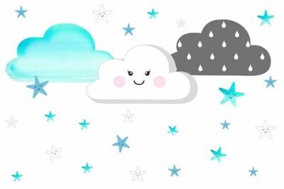 Samolepky na stenu hviezdne mraky SET 4 ks. !