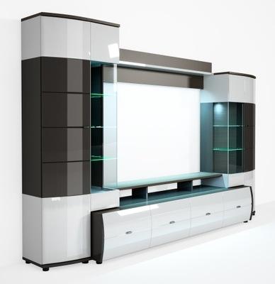 Современная стенка RTV LED блеск ТЕНДЕНЦИИ