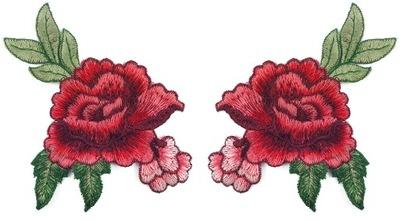 комплект полоса роза цветы вышивка 14cm - 2 штуки