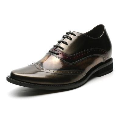 b55a76c307dcf Męskie eleganckie buty podwyższające +8 cm r. 37 - 7561055237 ...