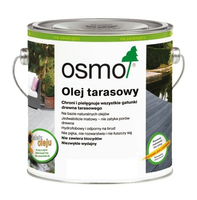 Osmo 009 Olej na terasy na rôznych úrovniach,drevo 2.5 L Smrekovec