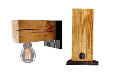 Lampy, drevené lampa loft nástenné svietidlo s vypínačom
