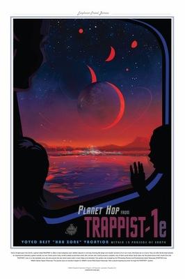 НАСА плакат TRAPPIST - 1E