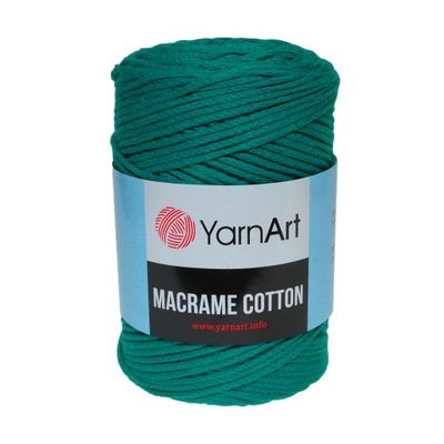 250 г шнурок makrama Macrame Cotton Бирюза 783