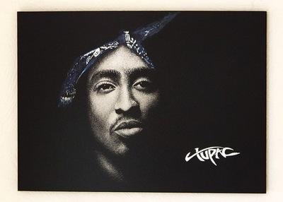 Tupac 2pac Obraz ręcznie grawerowany w blasze ...