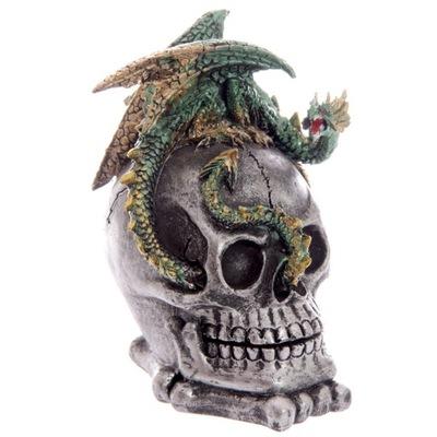 Gotický Kontajner Lebky Detaily s drakom