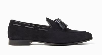zara czarne mokasyny buty z kokardą męskie