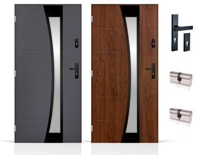 двери Внешние 72мм black Inox 80 /90