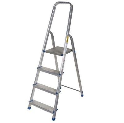 Rebrík 4 krok cert 150kg DRABEST +HÁČIK