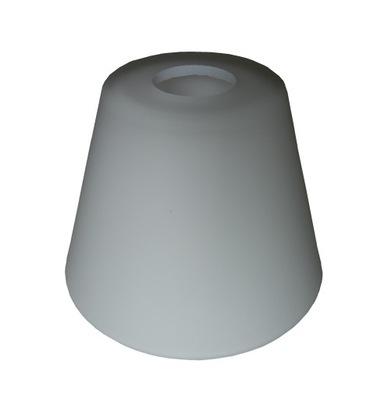 Абажур стеклянный Белый конус для ламп E27