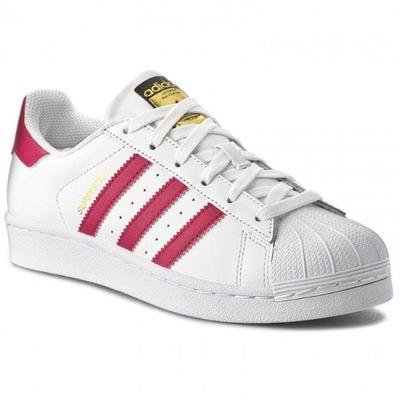 Adidas Superstar białe złote logo nowe