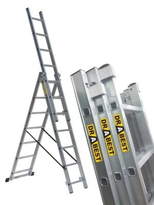 ЛЕСТНИЦА алюминиевая 3x11 лестница DRABEST +
