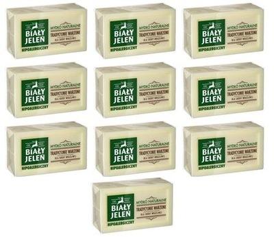 Biały Jeleń mydło naturalne hipoalergiczne 10x150g