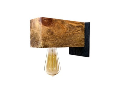 Lampy, drevené lampa loft priemyselné nástenné svietidlo