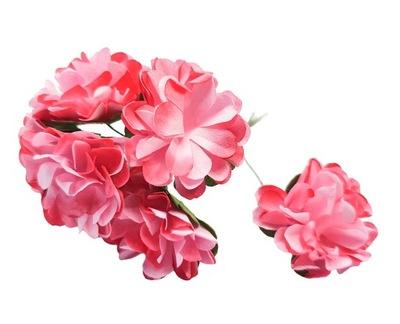 цветы ЦВЕТЫ БУМАЖНЫЕ 6 штук 3 СМ instagram розовое