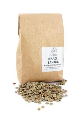 кофе зеленый в зернах Бразилия Сантос зерно 500 г