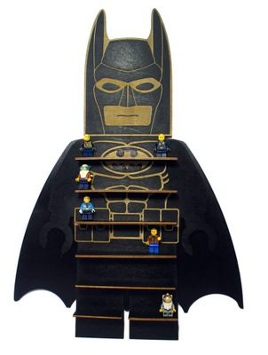 полка стеллаж на колодки человечков ЛЕГО Бэтмен