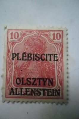 Plebiscite Ольштын Allenstein 10pf Mi2 1920г