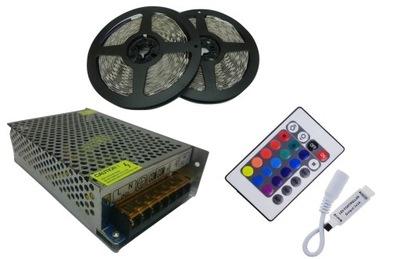 SÚPRAVA pásy RGB 5050 10m 300 LED volant + zdroj napájania