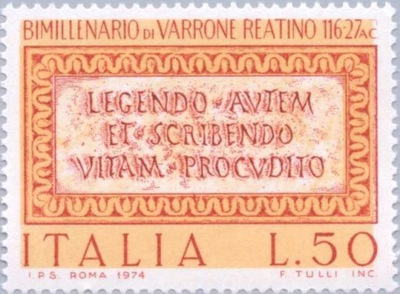 Włochy 1974 Znaczek Mi 1463 ** Warron antyk pisarz