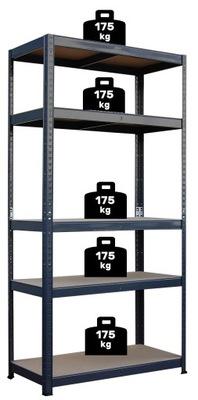 СТЕЛЛАЖ металлический 180x90x40 ПОЗИЦИЯ 5 полок x175kg