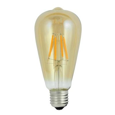 ЛАМПА LED 4 винтаж AMBER ST64 2000