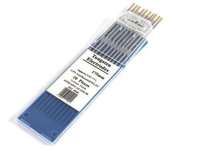 Elektrody wolframowe TIG WL15 złote 2,0 mm