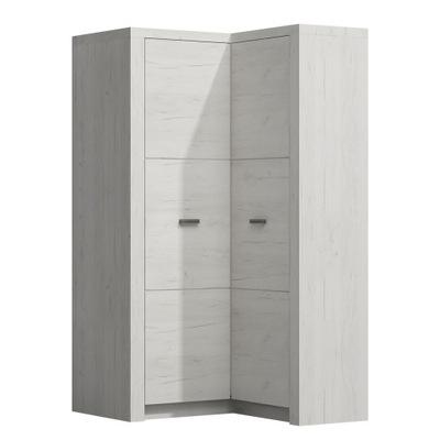 БОЛЬШАЯ шкаф Угловой craft Белый АЗИЯ пятидверной модели исоотношение 14
