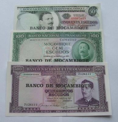 ZESTAW BANKNOTÓW STARY MOZAMBIK Z PACZKI BANKOWEJ
