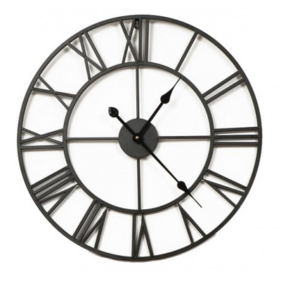 БОЛЬШОЙ металлический часы instagram 80 СМ Черный