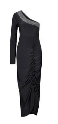4233035cb2 Wieczorowa Koktajlowa Długa Sukienka w Paski S M L - 7704129609 ...