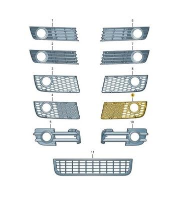 решеточка бампера туманки audi a4 b6 s-line левая, фото 6