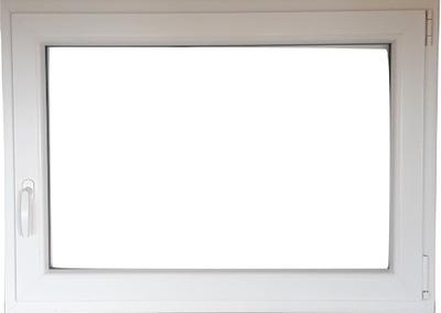 PVC okno, 100 x 90 / 1000 x 900 BIELA RU