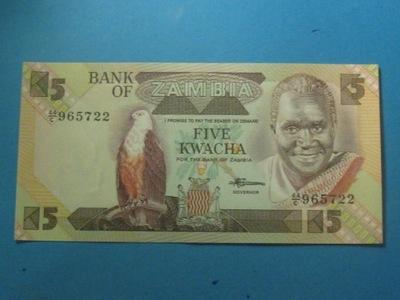 Замбия Банкнота 5 Квача 1980-88 UNC P-25d