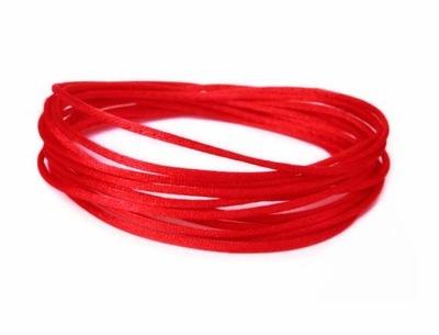 S12 ~ 1мм шнурок атласный клеящее вещество 5м красный
