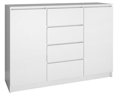 КОМОД 2D4S 120СМ белый 4 ящик 2 двери Салон
