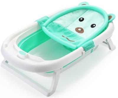 Skladacia detská kúpeľ na kúpanie mint + G R A T I S