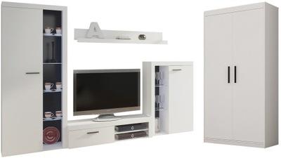 Стенка и шкаф 2D SAMBA Салон белая