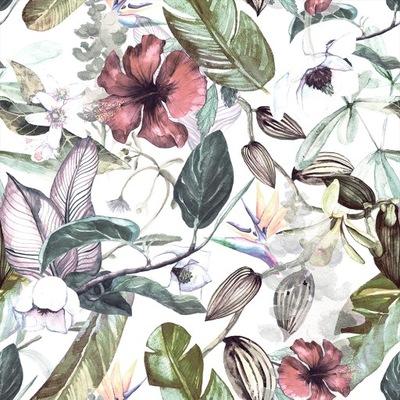 ОБОИ ролик цветы листья Ноль ,5x10m B -C -0242-j-