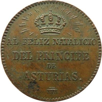 Испания Медаль Преемник Астурии Альфонс 1858
