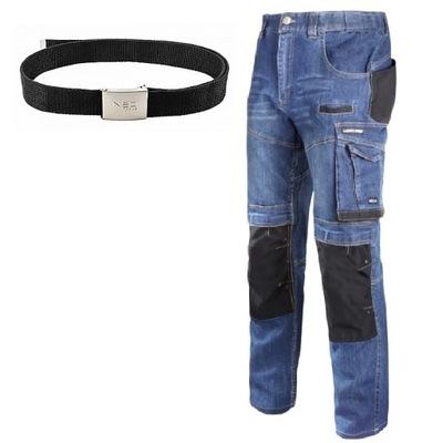 LAHTI PRO Spodnie robocze jeans stretch r.L +PASEK