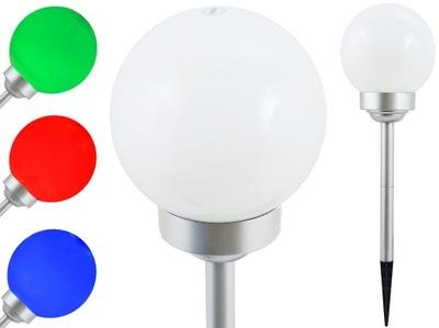солнечная лампа для сада белая шар 20 см RGB P-R20