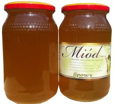 натуральный Мед lipowy , Липа , свежий ароматический !!!