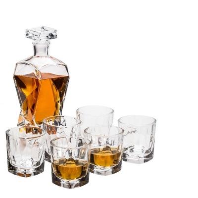 Decanter + 6 pohárov na whisky + krabica + rytca