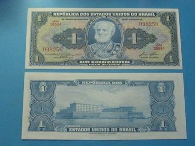 Бразилия Банкнота 1 Крузейру-ду-1954-Instagram восемь UNC P-??? instagram