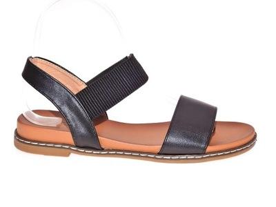 Klasyczne czarne sandały r.36 7388715203 oficjalne