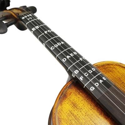 Naklejki nuty na skrzypce altówka kontrabas wiolin